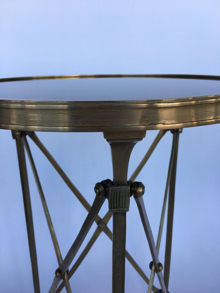 Bronze Classic Style Gueridon Side Table with Marmol Top For Sale