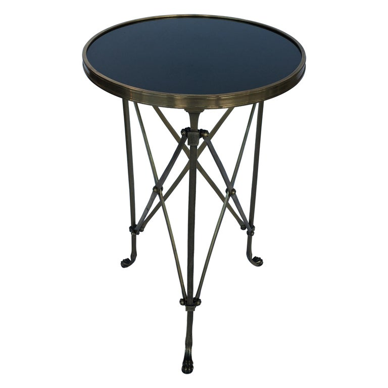 Classic Style Gueridon Side Table with Marmol Top For Sale