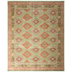 Classic Style Modern Tribal Rug Green All-Over Pattern by Rug & Kilim