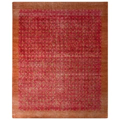 Classic Style Modern Tribal Rug Red Brown Medallion Pattern by Rug & Kilim