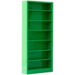 Classic Tall Steel Tanker Bookcase, Refinished in Lime Green, Custom Order