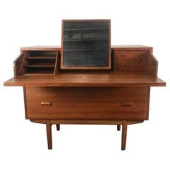 Classic Teak Dresser Desk or Vanity Designed by Børge Mogensen, Denmark