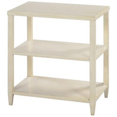 Classic Three-Tier Side Table, Drift White