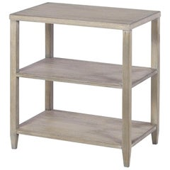 Classic Three-Tier Side Table, Greyed