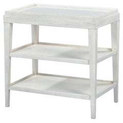 Classic Three-Tier Side Table, Rustic White