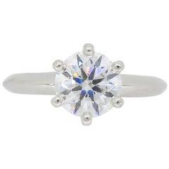 Classic Tiffany & Co. Diamond Solitaire Platinum Ring