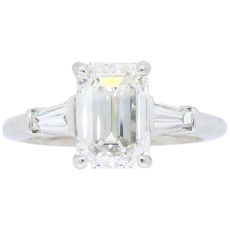 Engagement Ring Box Sale: Classic Tiffany And Co. Emerald Cut Diamond Engagement
