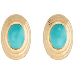 Classic Turquoise and Gold Earrings