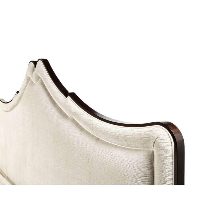 Contemporary Classic Upholstered King Size Bed For Sale
