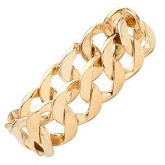 Classic Verdura 18 Karat Gold Curb Link Bracelet