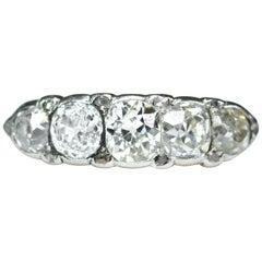 Classic Victorian Five-Stone Antique Diamond Ring