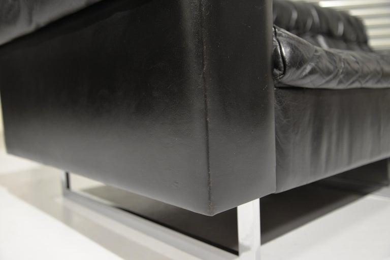 Classic Vintage De Sede 3 Seat Leather Sofa, Switzerland 1970s For Sale 7