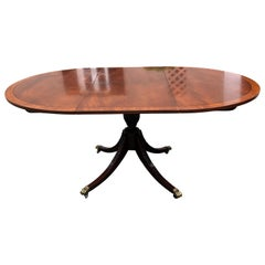 Classic Vintage Mahogany Sheraton Style Oval and Round Dining Table