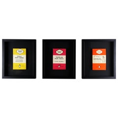 Classic Vintage Original Framed Penguin Books Set of 3