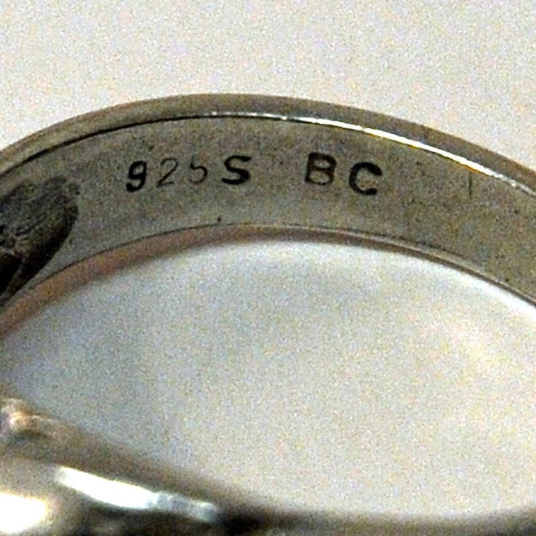 Late 20th Century Classic Vintage Silver Ring by Guldateljen, Sweden, 1980s For Sale