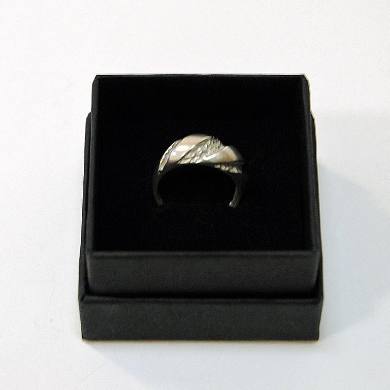 Classic Vintage Silver Ring by Guldateljen, Sweden, 1980s For Sale 1