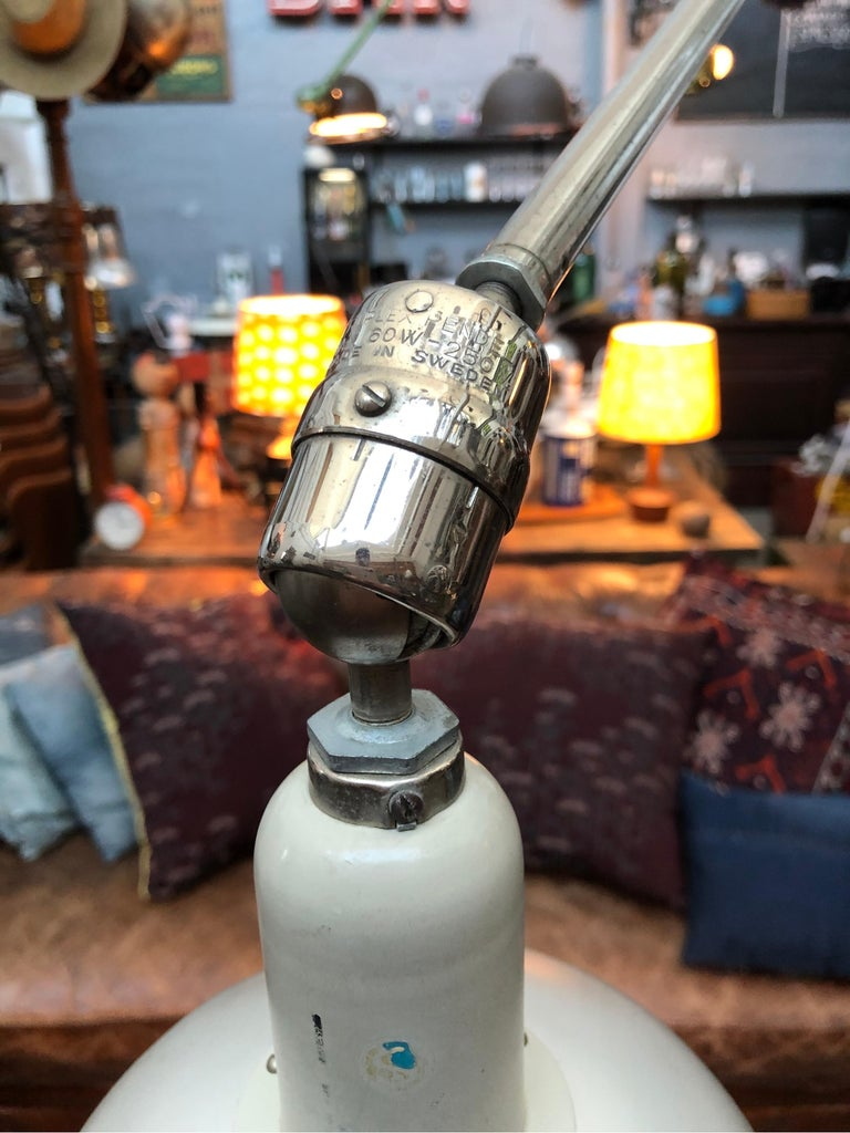 Industrial Classic Vintage Triplex Work Lamp by Johan Petter Johansson for ASEA of Sweden For Sale