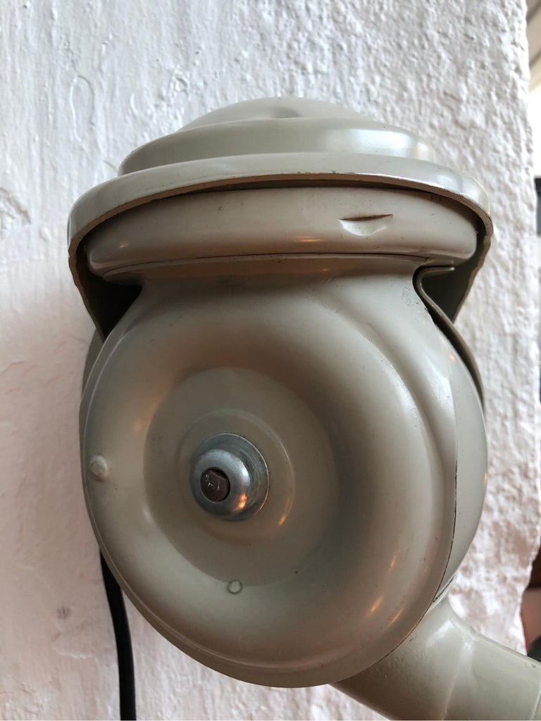 Hand-Crafted Classic Vintage Triplex Work Lamp by Johan Petter Johansson for ASEA of Sweden For Sale