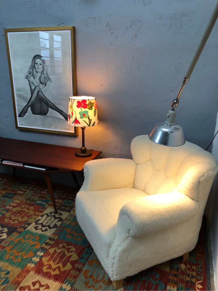 Mid-20th Century Classic Vintage Triplex Work Lamp by Johan Petter Johansson for ASEA of Sweden For Sale