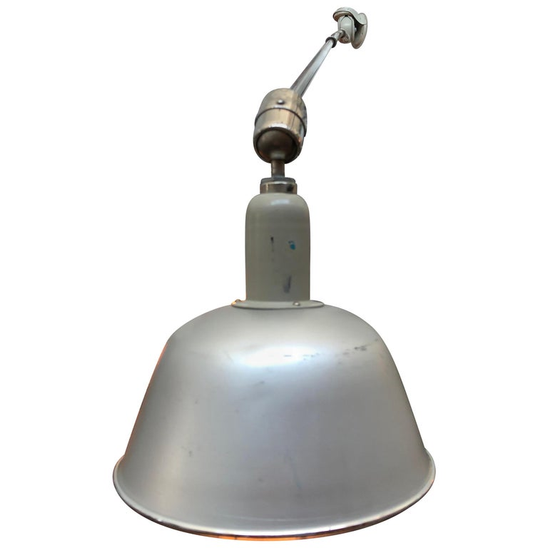Classic Vintage Triplex Work Lamp by Johan Petter Johansson for ASEA of Sweden For Sale