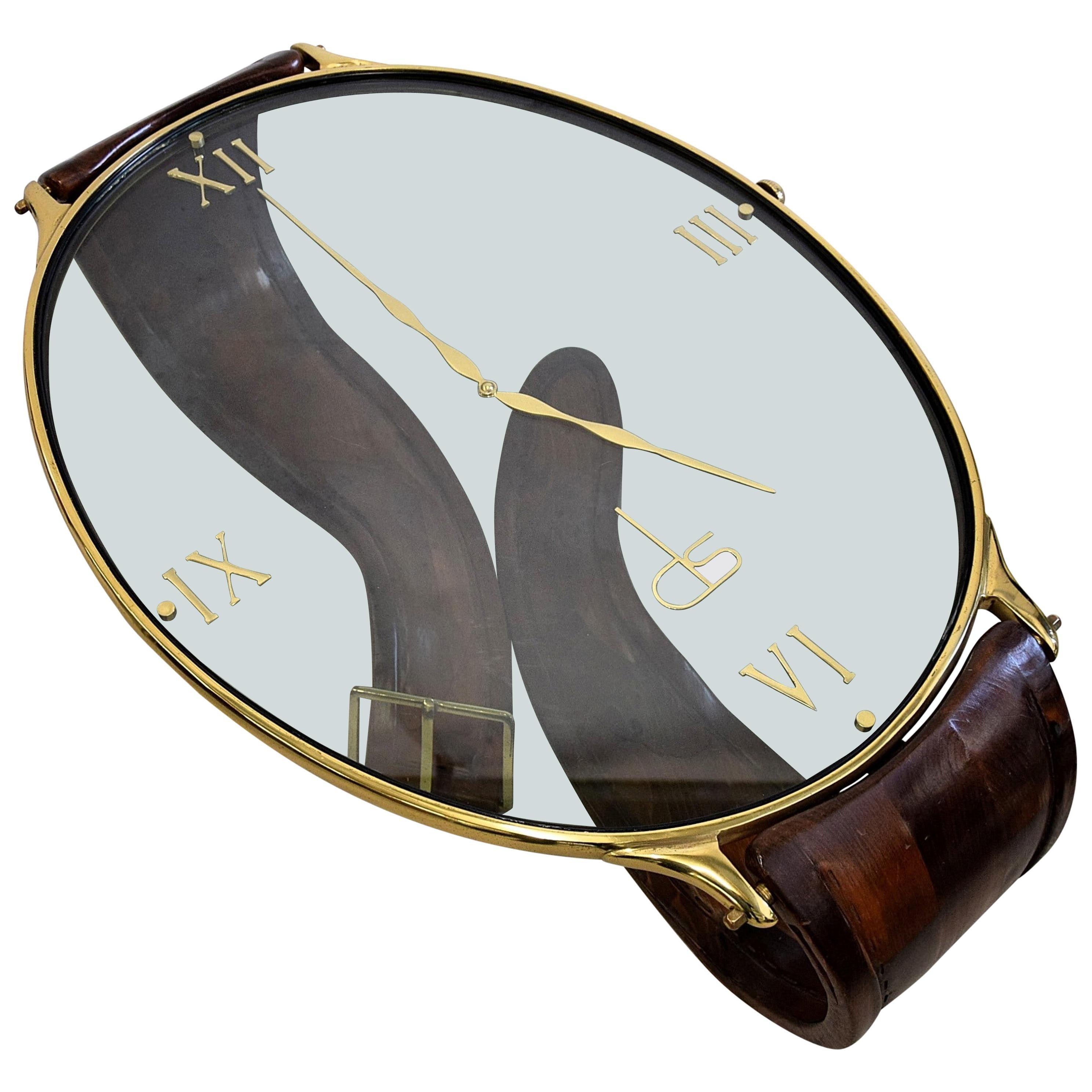 Classic Vintage Wristwatch Midcentury Italian Coffee Table