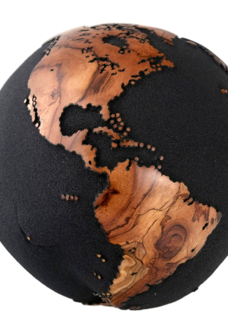 Contemporary map art by HB Globes