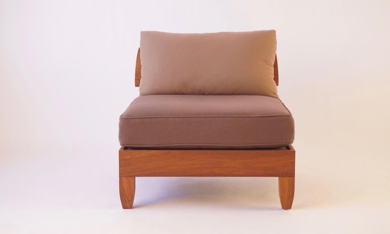 Classic Walnut Club Chair by Chris Lehrecke In Excellent Condition For Sale In Bangall, NY