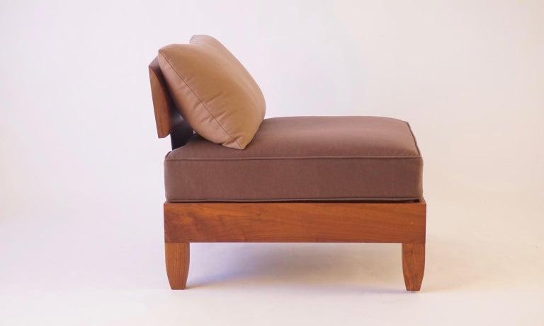 Contemporary Classic Walnut Club Chair by Chris Lehrecke For Sale