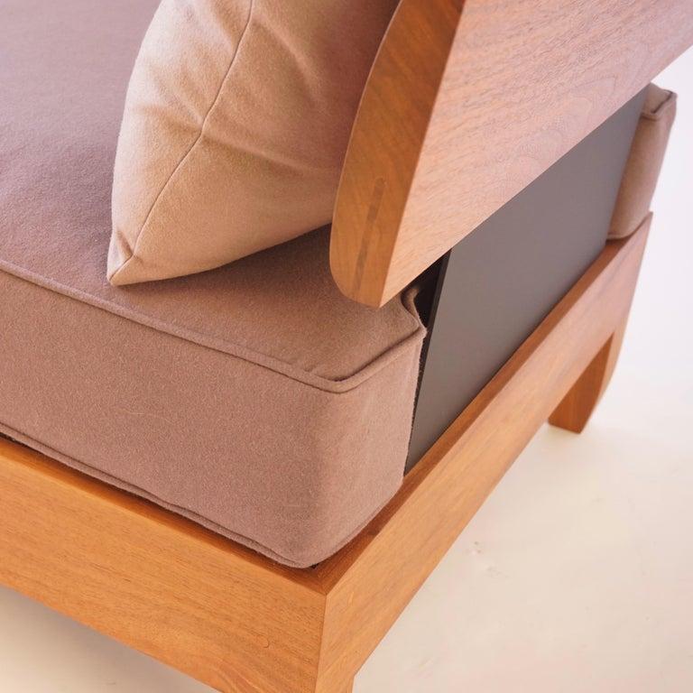 Aluminum Classic Walnut Club Chair by Chris Lehrecke For Sale