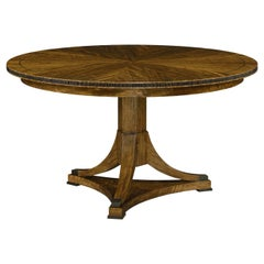 Classic Walnut Round Dining Table