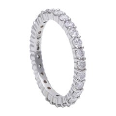 Classic White Diamond Eternity Ring in 18 Karat White Gold