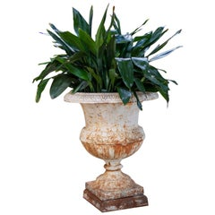 Classic White Garden Iron Urn