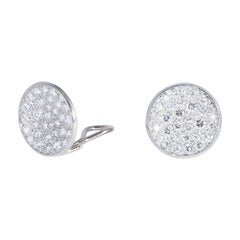 Classic White Gold and Diamond Earrings