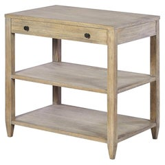 Classic Wide Side Table, Rustic Greyed
