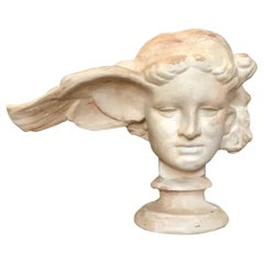 Classic Winged Head Plaster Sculpture