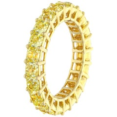 Classic Yellow Eternity Band, 3.92 Carat
