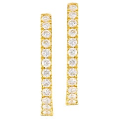 Classic Yellow Gold Diamond Hoops with Diamonds Inside and Outside