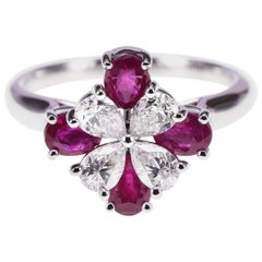 Classical 1.02 Carat Ruby and Diamond Pretty Ring