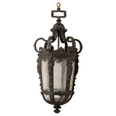 Classical 19th Century Bronze Hall Lantern