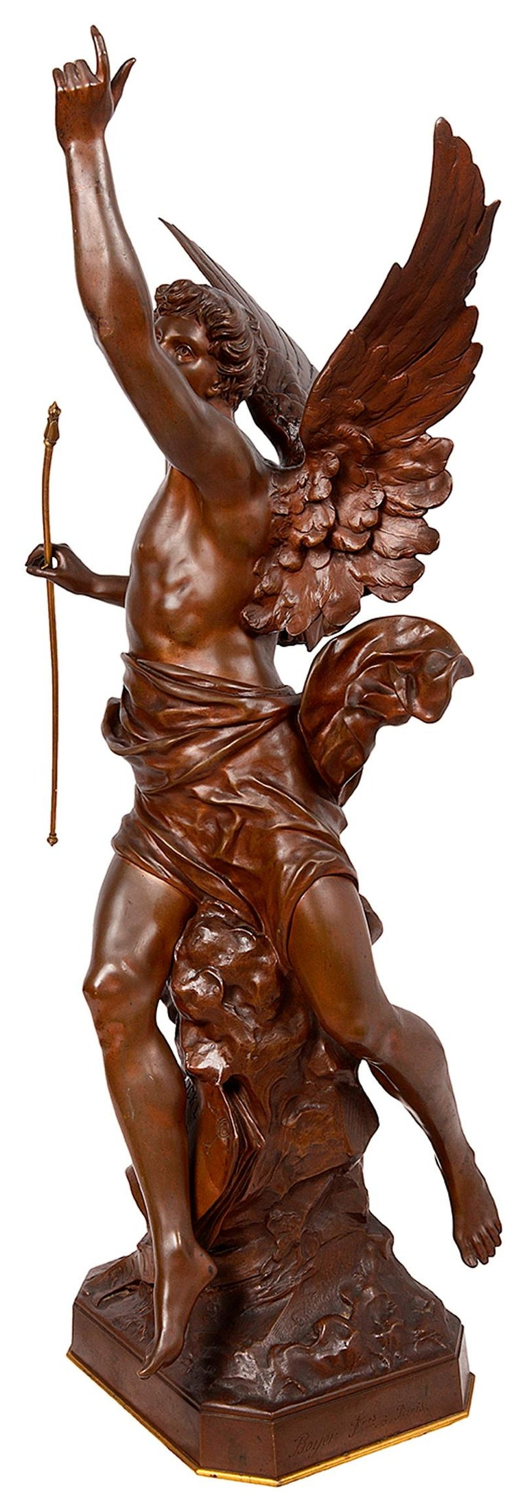 French Classical 19th Century Bronze Statue 'Thought' by Emile Picault For Sale