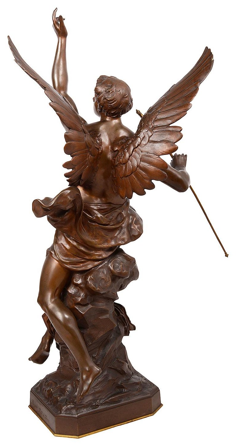 Classical 19th Century Bronze Statue 'Thought' by Emile Picault In Good Condition For Sale In Brighton, Sussex