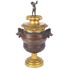 Classical 19th Century Italian Bronze Urn