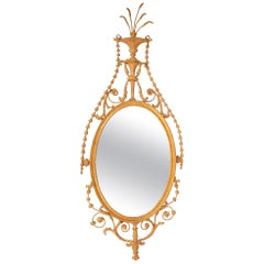 Classical 19th Century Sheraton Style Gilded Wall Mirror