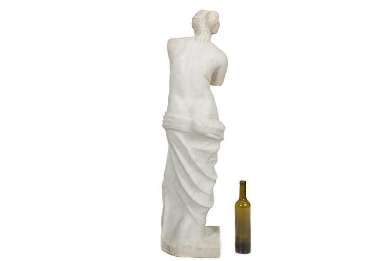 Italian Classical Antique Marble Sculpture of Statue