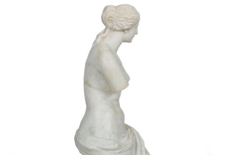 19th Century Classical Antique Marble Sculpture of Statue