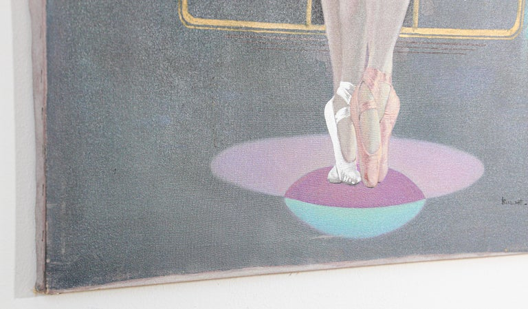 Classical Ballet Dancers Oil Painting on Canvas For Sale 1