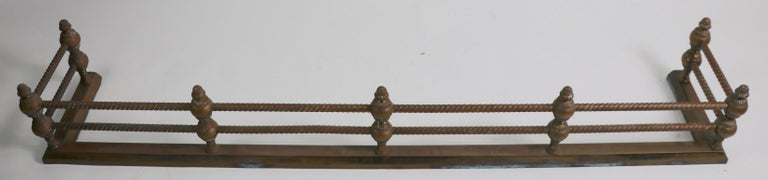 American Classical Brass Fireplace Fender For Sale
