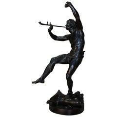 Classical Bronze Faun by Eugène Lequesne