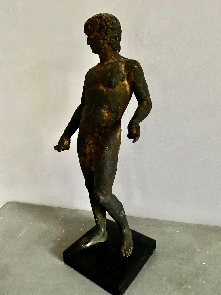 Classical Bronze Male Nude Sculpture For Sale 6
