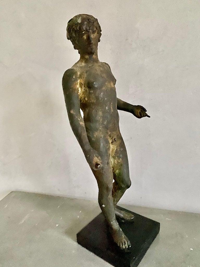 Classical Bronze Male Nude Sculpture For Sale 7